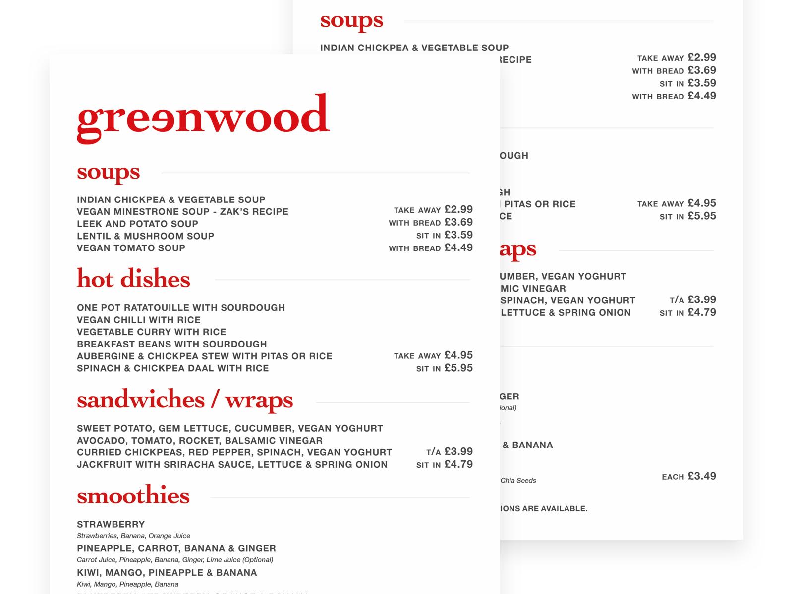 Greenwood-Menus